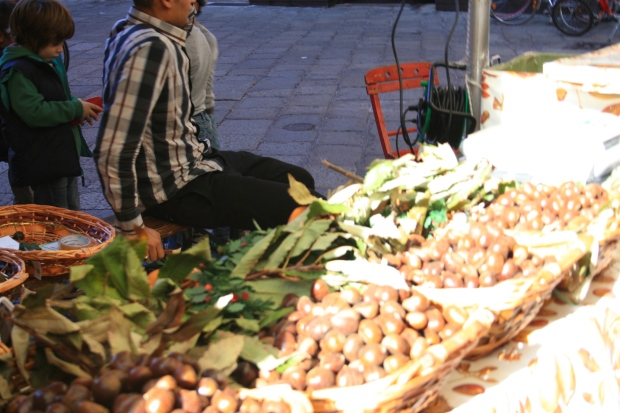 Roasted Chestnuts in Bologna