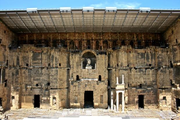 The stage for Théâtre antique d'Orange